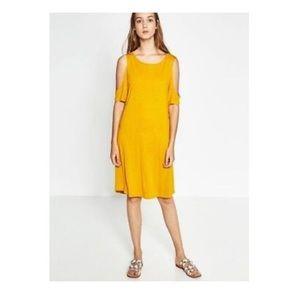 Zara •Cold Shoulder Dress•